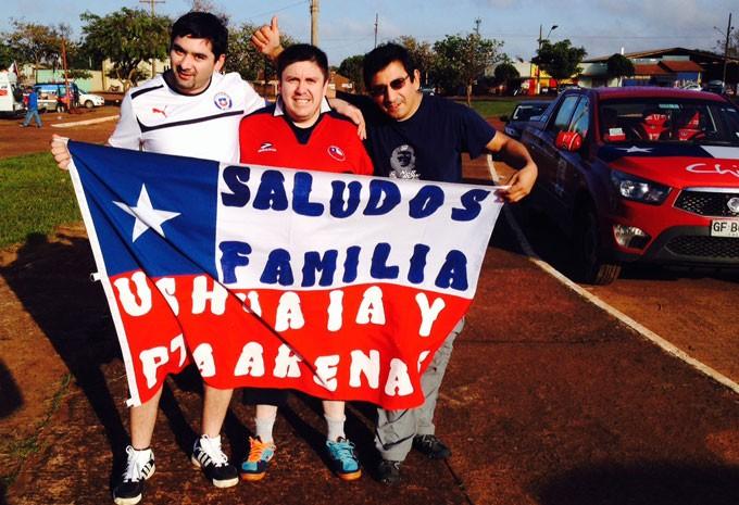 Os chilenos Fernando Troychok, Alejandro Oyarzo e René Soto