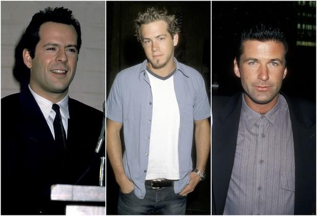 Bruce Willis, Ryan Reynolds e Alec Baldwin (Foto: Getty Images)
