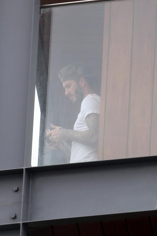 David Beckhan no hotel Fasano, RJ (Foto: Gil Rodrigues/PhotoRio News)