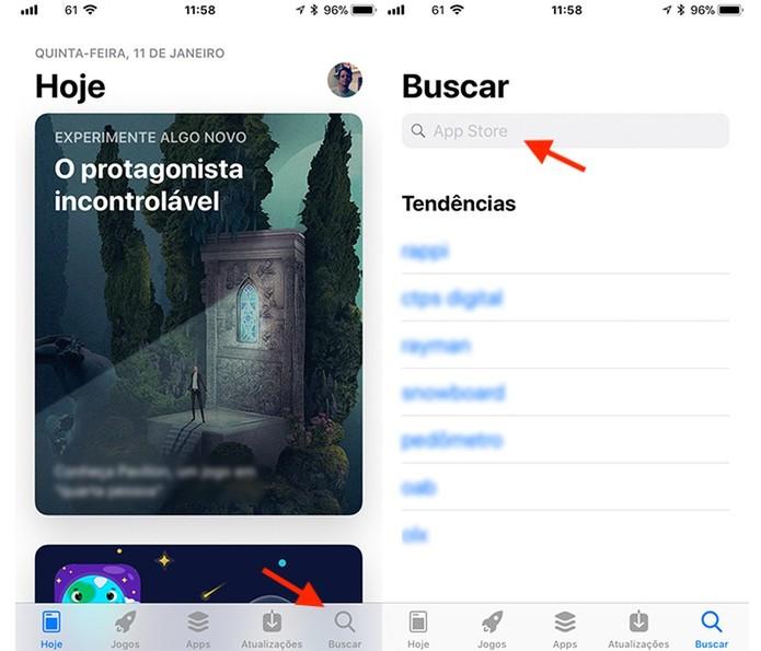 Busque pelo Instagram na App Store do iOS para iPhone (Foto: Reprodução/Marvin Costa)