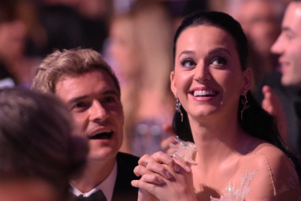 A cantora Katy Perry com o ator Orlando Bloom (Foto: Getty Images)