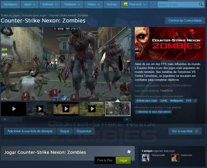 Tela do jogo no Steam (Foto: Reprodução/André Mello)