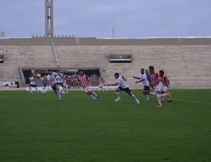 Botafogo-PB x Potiguar de Mossoró, no Estádio Almeidão (Foto: Hévilla Wanderley / GloboEsporte.com/pb)