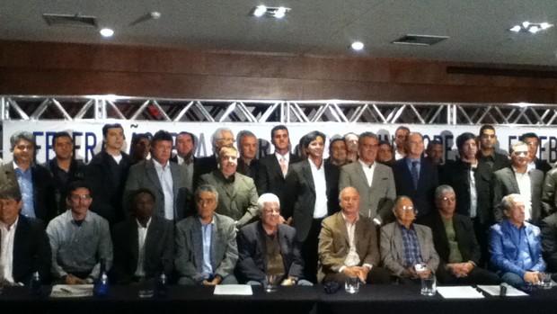 Técnicos Federação Brasileira dos Treinadores de Futebol (FBTF) (Foto: Maria Clara Ciasca)