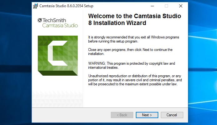 Iniciando o instalador do Camtasia Studio (Foto: Reprodução/Helito Bijora)