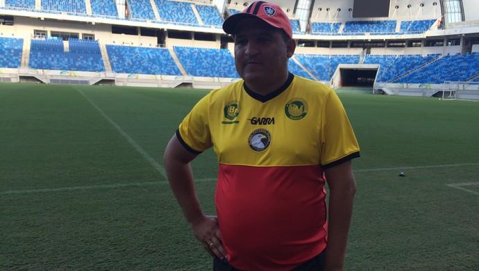 Higor César técnico do Globo FC (Foto: Carlos Cruz/GloboEsporte.com)