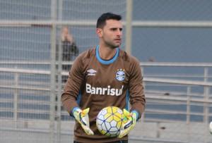 Bruno Grassi, goleiro, Grêmio, treino (Foto: Eduardo Moura / GloboEsporte.com)
