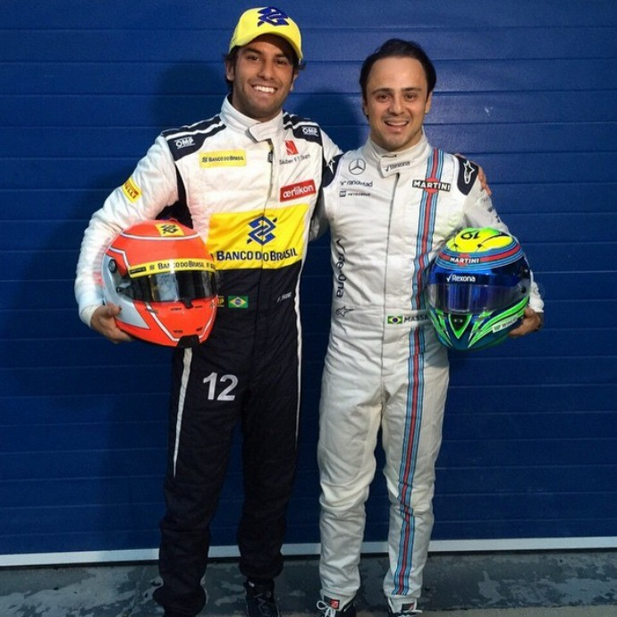 Felipe Massa e Felipe Nasr posam juntos Fórmula 1 (Foto: Reprodução/Instagram)
