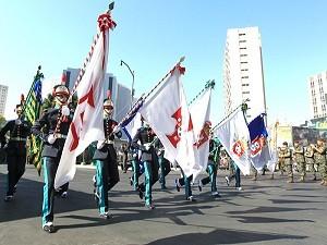 Desfile cívico-militar marca comemorações pelo Dia da Independência (Foto: Wildes Barbosa/O Popular)
