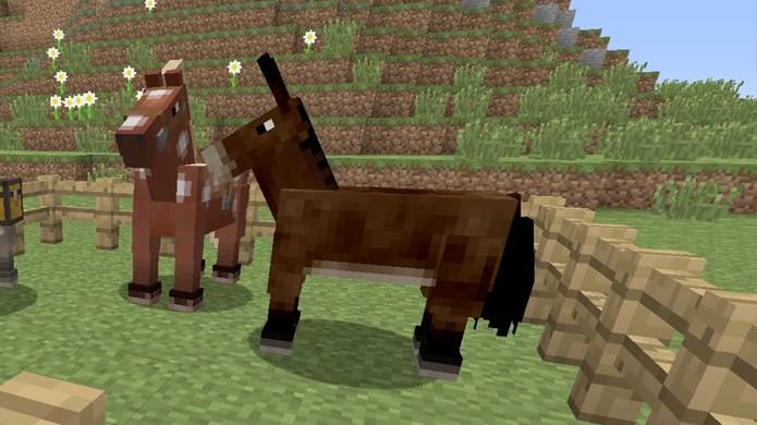 Aguarde até que sua mula cresça para poder domesticá-la em Minecraft (Foto: Reprodução/Rafael Monteiro)