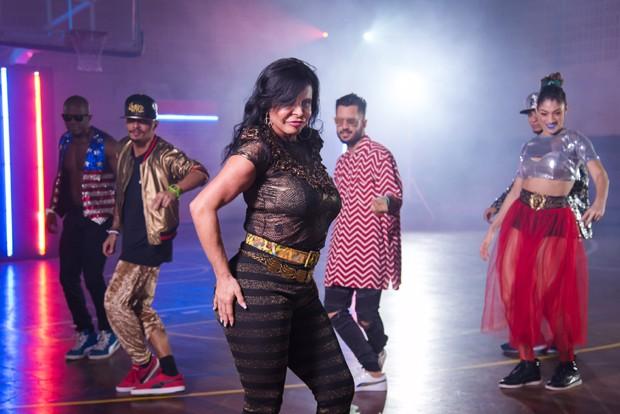Gretchen na gravação do clipe 'Swish Swish', de Katy Perry (Foto: Divulgação/Natalia Abreu)