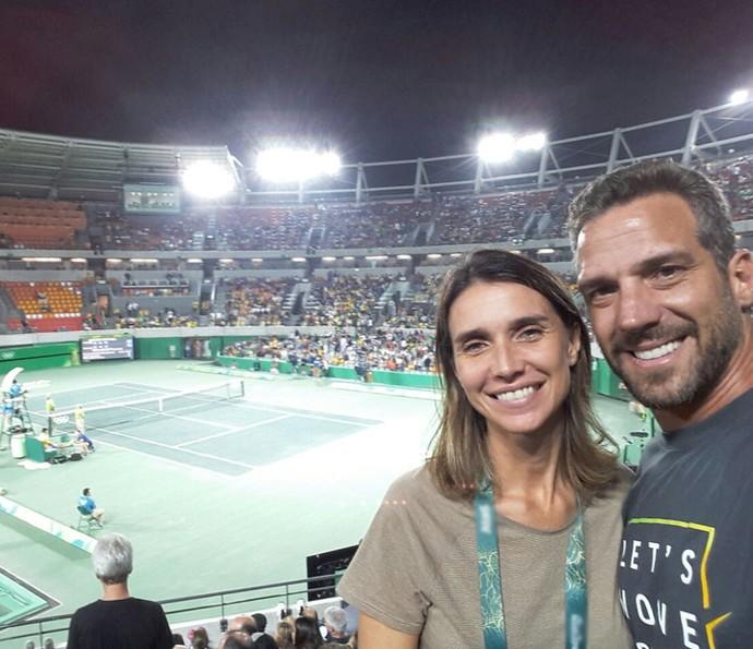 Carlos Bonow com Keila durante a Olimpíada (Foto: Arquivo pessoal)