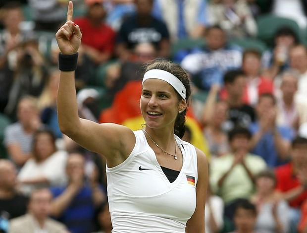 Julia Goerges t&#234;nis Wimbledon Londres 2012 1r (Foto: Reuters)