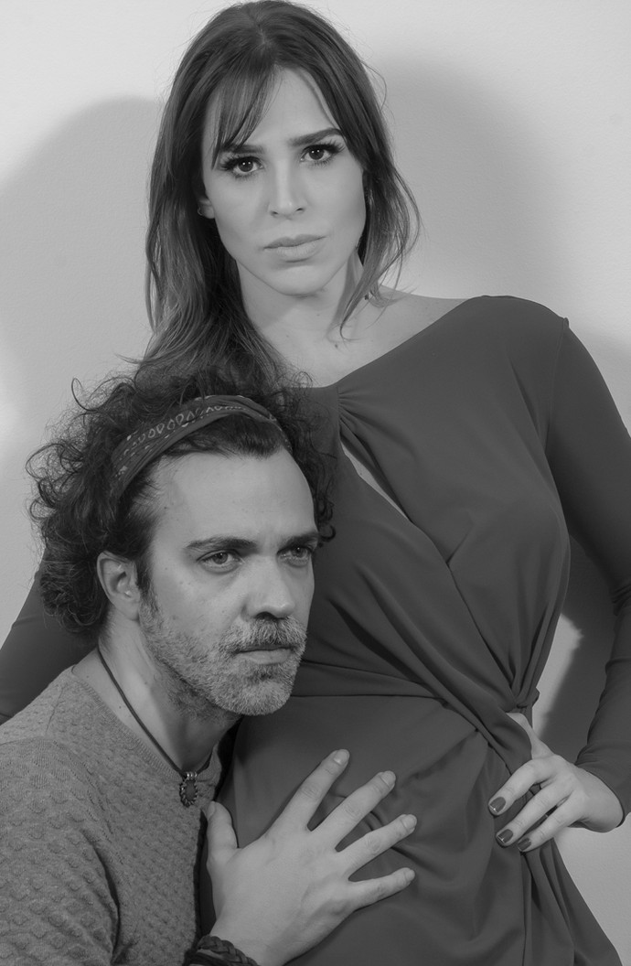 Larissa Bracher é casada há nove anos com o cantor Paulinho Moska (Foto: Rafael Iebra / Mayara Carvalho)