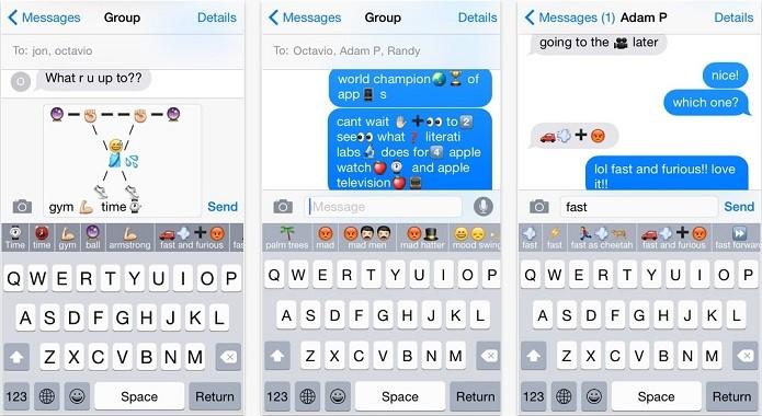Keymoji sugere emojis de acordo coma palavra digitada (Foto: Divulgação)