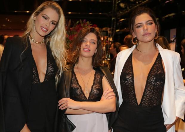 Yasmin Brunet, Bruna Linzmeyer e Mariana Goldfarb (Foto: Claudio Augusto/Brazil News)