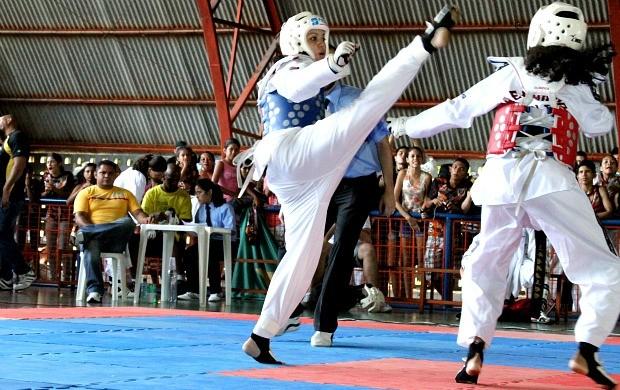 Brasileiro de Taekwondo Interclubes, em Manaus (Foto: Frank Cunha/GLOBOESPORTE.COM)