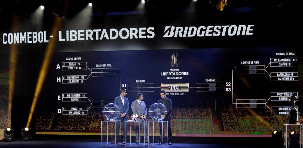 Chaves da fase final da Copa Libertadores da América estão definidas