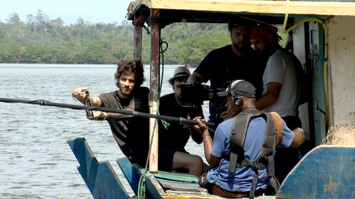 Chay Suede dirige filme em aldeia indígena (Foto: Divulgação/ TV Gazeta ES)