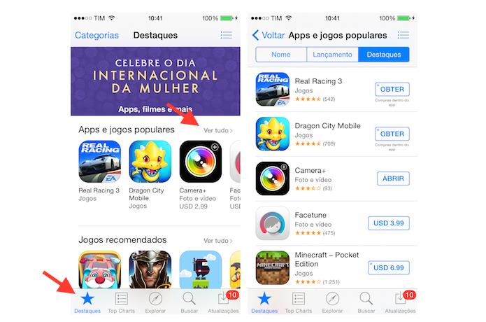 Acessando uma lista completa de recomendações na App Store (Foto: Reprodução/Marvin Costa)