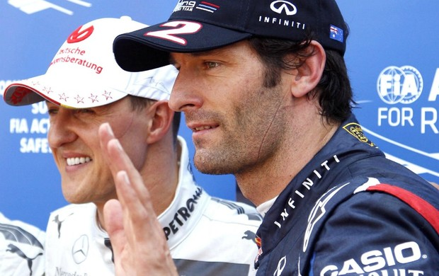 F1 Mônaco Mark Webber Michael Schumacher (Foto: Reuters)