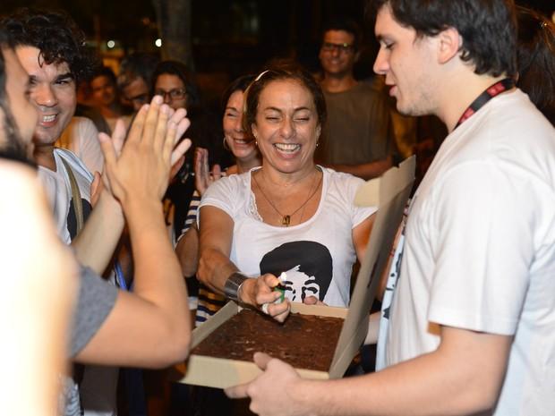 Cissa Guimarães em reinauguração do túnel Acústico Rafael Mascarenhas na Zona Sul do Rio (Foto: André Muzell/ Ag. News)