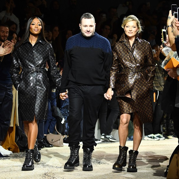 Naomi Campbell, Kim Jones e Kate Moss (Foto: Getty Images)
