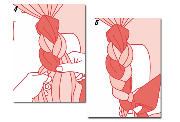 Veja como fazer a trança com lenço (Foto: Peters e Zabransky)