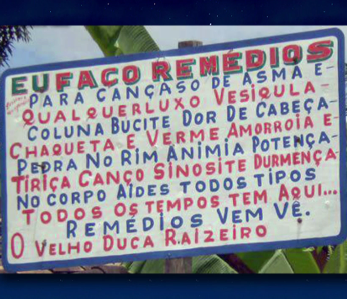 Programa do Jô mostra placas engraçadas (Foto: TV Globo)