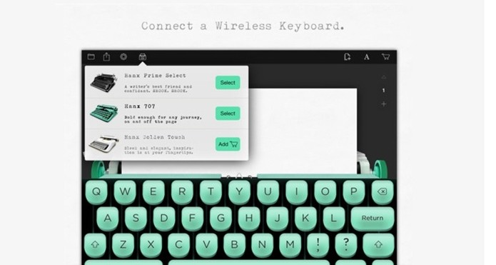 Hanx Writer transforma o iPad em máquina de escrever (Foto: Divulgação/Hitcents)