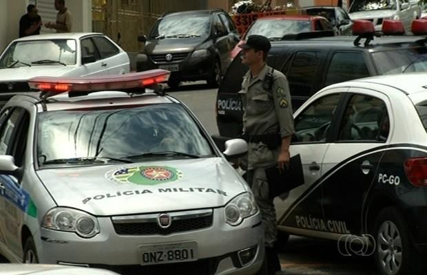 Paralisação faz delegacia deixar de registrar caso de tentativa de estupro em Goiás (Foto: Reprodução/TV Anhanguera)