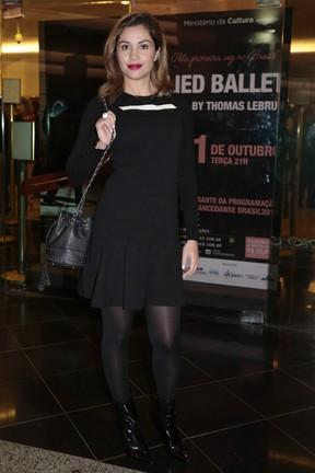 Ex-BBB Maria Melilo em pré-estreia de peça em São Paulo (Foto: Rafael Cusato/ Brazil News)