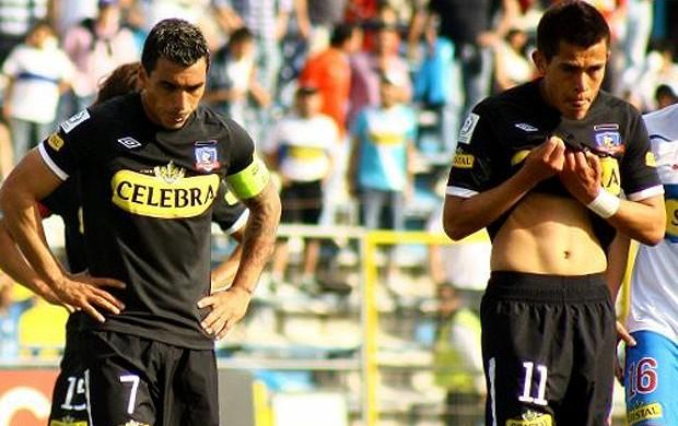 jogadores colo-colo goleada sofrida universidad do Chile (Foto: Divulgação site oficial do Colo-Colo)