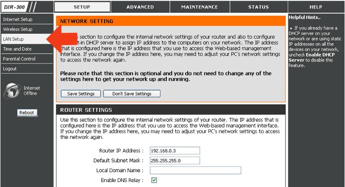 Acesse as configurações de DHCP no seu roteador (Foto: Reprodução/Paulo Alves)