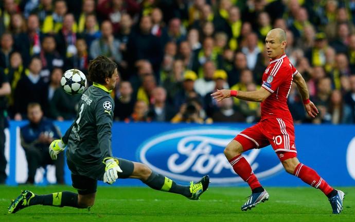 Robben bayern de Munique x Borussia Dortmund (Foto: Reuters)