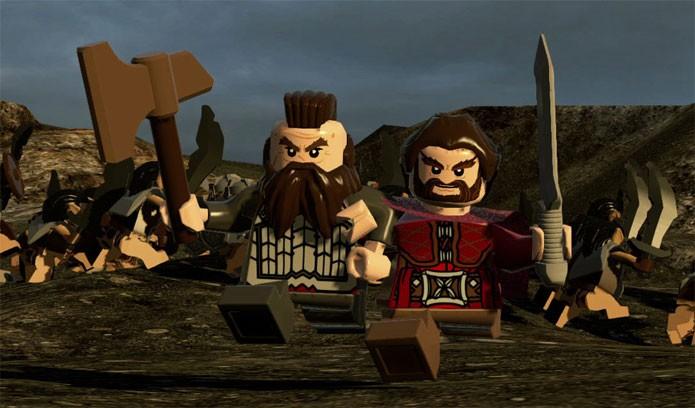 O jogador encontra uma série de aliados em LEGO Hobbit (Foto: Divulgação)