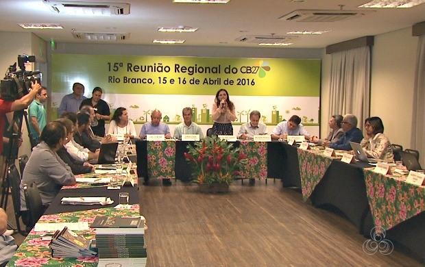 Gestores se reuniram e debateram sobre a melhoria nas políticas de preservação do meio ambiente (Foto: Acre TV)