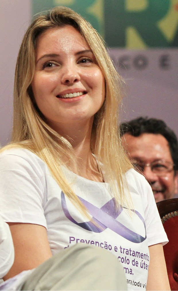 Marcela Temer no lançamento da campanha de combate ao câncer de mama e colo do útero, em Manaus, em 2011 (Foto: Roberto Stuckert Filho /PR)