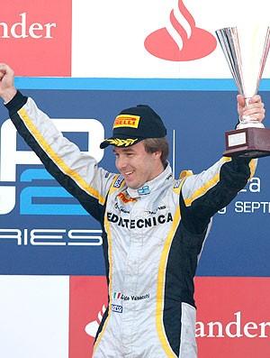 Davide Valsecchi comemoração Monza GP2 (Foto: Divulgação)