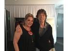 Luciana Gimenez posta foto da mãe com Mick Jagger: 'Bem acompanhada'