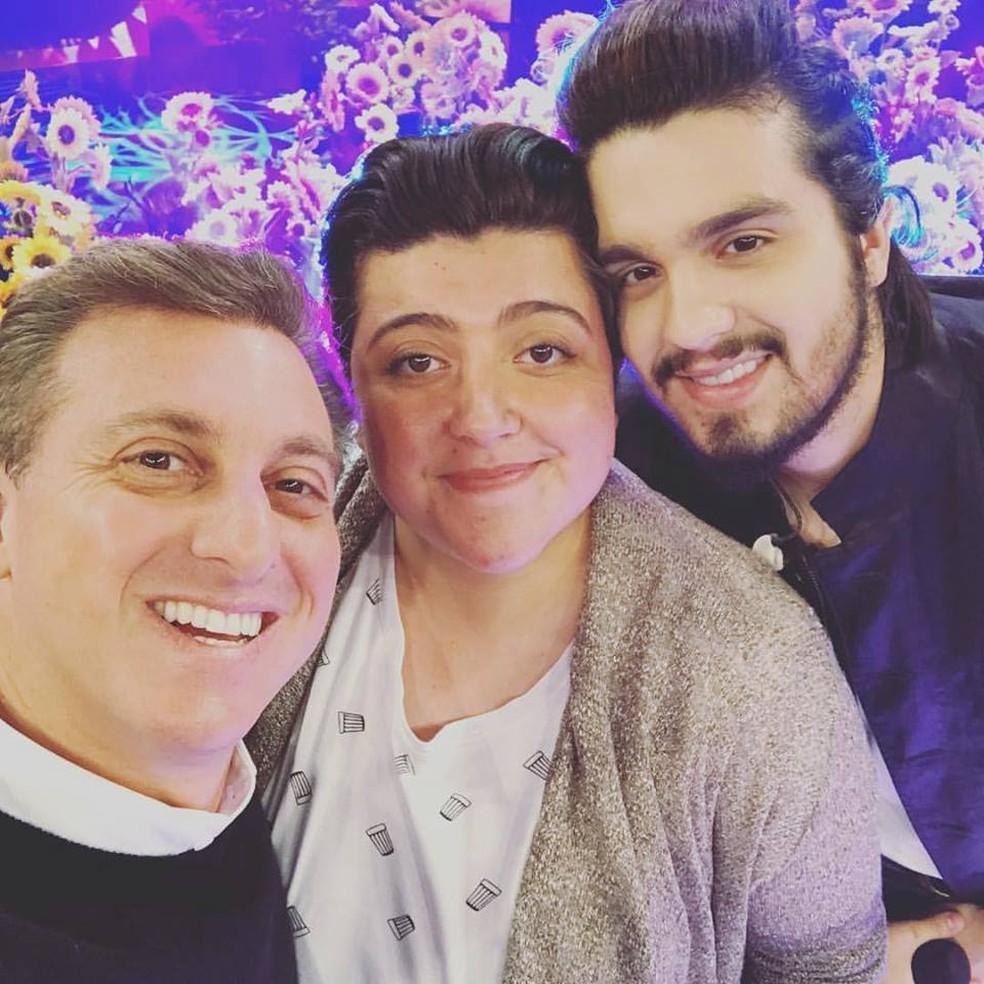 Luciano Huck, Ana Vilela e Luan Santana (Foto: Ana Vilela/Arquivo pessoal)
