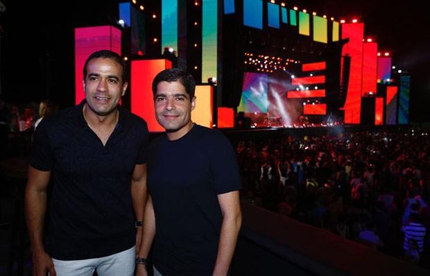 O prefeito de Salvador, ACM Neto, e o vice-prefeito, Bruno Reis (Foto: Ricardo Cardoso e Icaro Cerqueira/QUEM)