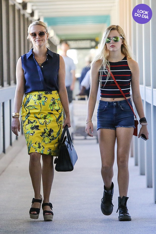 Reese Witherspoon e Ava (Foto: Agência AKM)