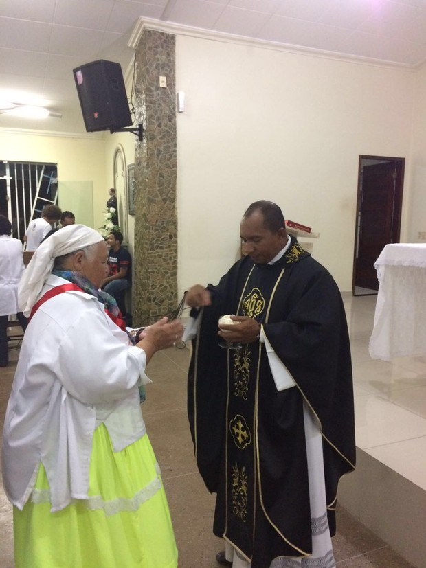 População Ribeirinha na missa de um mês de morte de Domingos Montagner (Foto: Arquivo Pessoal)