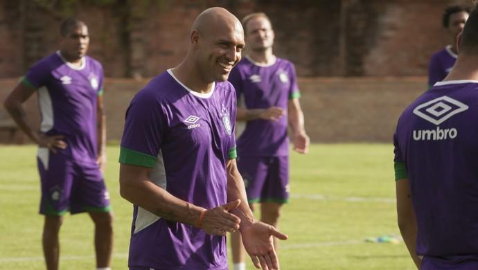 Recuperado de lesão, Edno está confirmado para o jogo contra o Confiança (Foto: Oswaldo Forte/O Liberal)