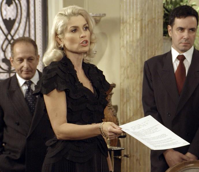 Sandra expulsa Anastácia e Candinho da mansão (Foto: TV Globo)