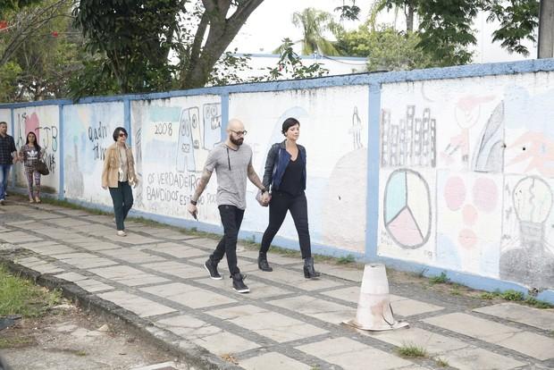 Camila Rodrigues e o namorado Roberto Costa (Foto: Dilson Silva/AgNews)