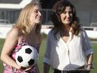 De chuteira, Angélica e Fátima Bernardes marcam gols no campo do Vasco