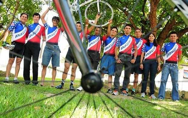 Ciclistas de Manaus Amazonas Copa Norte (Foto: Michael Dantas/Sejel)