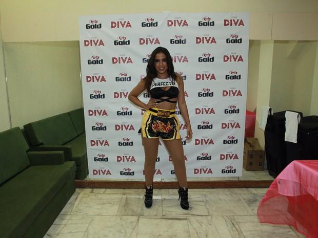 Anitta em bastidores de show na Zona Sul do Rio (Foto: Marcello Sá Barretto/ Ag. News)